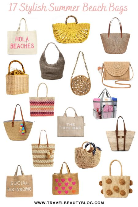 Stylish summer beach bags for your pool and beach essentials. Straw bags, canvas bags, water proof bags, rattan bags you need!   #LTKtravel #LTKswim #LTKitbag