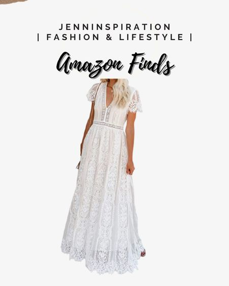White boho lace casual evening dress; also perfect for wedding http://liketk.it/3gJaS #liketkit @liketoknow.it You can instantly shop all of my looks by following me on the LIKEtoKNOW.it shopping app #LTKDay #LTKstyletip #LTKsalealert