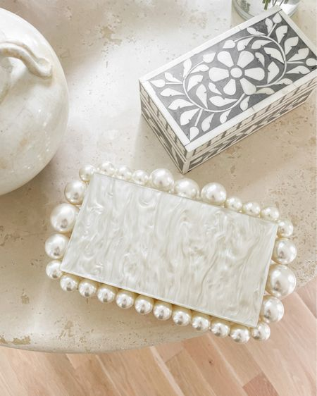 Bridal clutch. http://liketk.it/3hGJH #liketkit @liketoknow.it #LTKwedding #LTKitbag #bridal #wedding #clutch #pearl