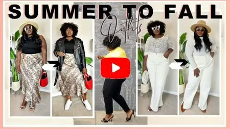 Summer to fall outfit ideas ft White white black denim, #PlusSize satin skirt,HighWaist , White sneakers, clear mules, leather Moto jacket, lace turtleneck top, cognac brown boots booties #BlackGirlStyle #BlackGirlMagic #MidsizeGirl looks from @hm @nordstrom @asos @amazonfashion    #LTKunder100 #LTKcurves #LTKsalealert