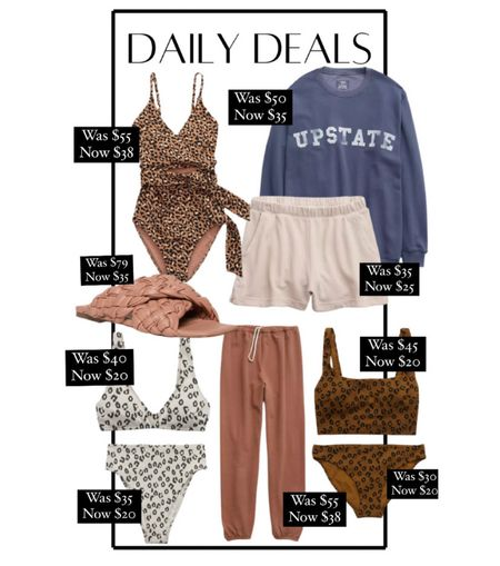 Daily deals! Aerie sale 30% off new arrivals! Love these new leopard swimsuits on sale. Also these Steve Madden braided sandals are on major sale! Oversized sweatshirt, loungewear, wfh, casual outfits    #LTKsalealert #LTKstyletip #LTKunder50
