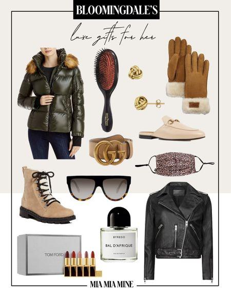 Luxury gift guide for her All Saints Balfern Leather Jacket (on sale now) Sorel Hiker Boots Gucci Mules  Gucci Belt   http://liketk.it/31ZWX #liketkit @liketoknow.it #LTKgiftspo #LTKstyletip #LTKshoecrush #miamiamine