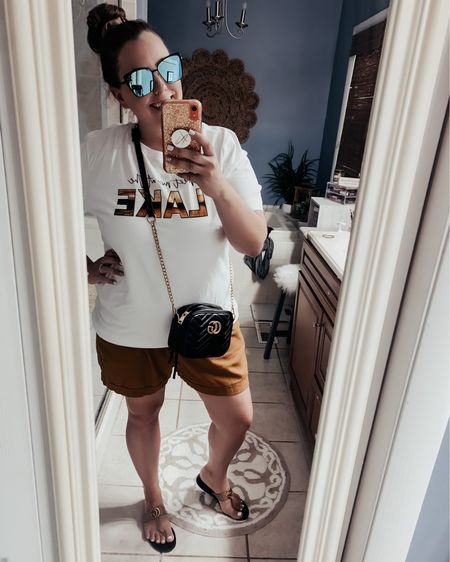 It is HOT 🔥 🥵  Thankfully this outfit is cool and comfortable!   Tee- Pink Lily Shorts- Old Navy Bag & Shoes- KellParker Sunnies- Sojos on Amazon  http://liketk.it/3fVAi #liketkit #LTKitbag #LTKstyletip #LTKshoecrush @liketoknow.it