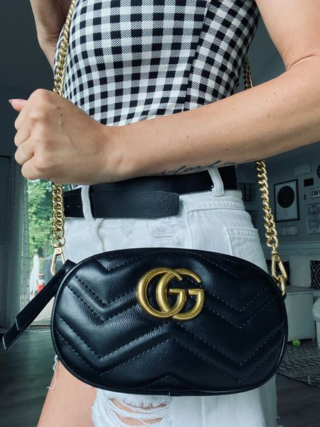 GG belt bag with gold chain.  #LTKunder50 #LTKstyletip #LTKitbag