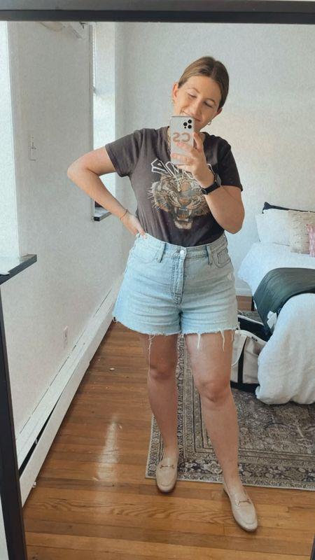 Friday outfit! The best denim shorts   #LTKSeasonal #LTKshoecrush #LTKunder100