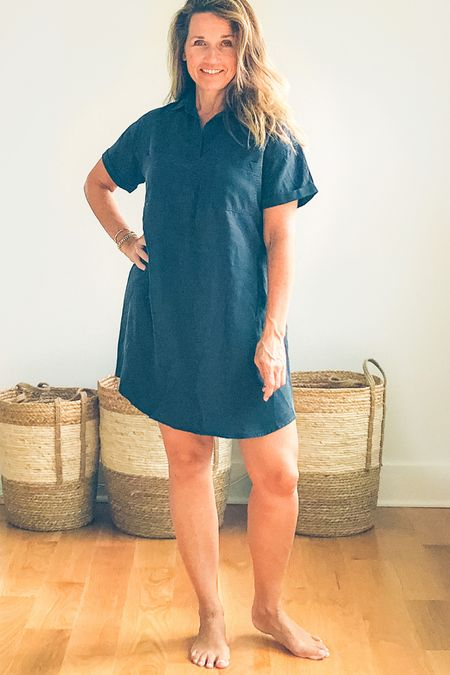 Who doesn't love a shirt dress! Most versatile style out the. Here it is matched up for you from head to toe!