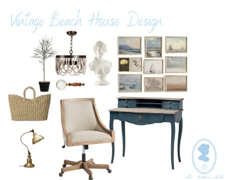 I love decorating homes that are in different regions! Crushing hard on this vintage beach concept I came up with! Can't wait to share more with you! 💙   #LTKstyletip #LTKhome #LTKeurope