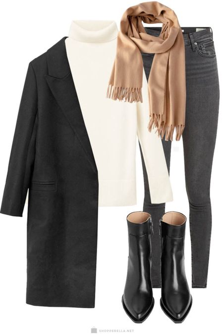 Classic winter outfit | wool coat | turtleck | cashmere | boots | scarf http://liketk.it/35kmS @liketoknow.it #liketkit #LTKstyletip
