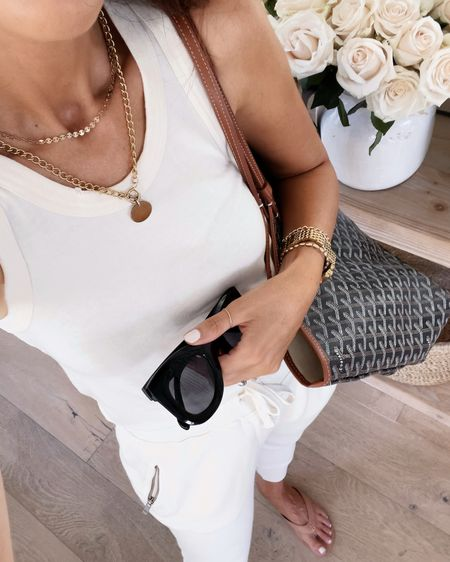 Amazon finds, amazon fashion, joggers, tank, tote, sunglasses, stylinbyaylin  Follow my shop on the @shop.LTK app to shop this post and get my exclusive app-only content!  #liketkit  @shop.ltk http://liketk.it/3kkVb