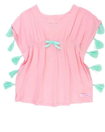 Little girl tassel trim cover up #LTKfamily #LTKkids #LTKunder50 http://liketk.it/3g6LC #liketkit @liketoknow.it