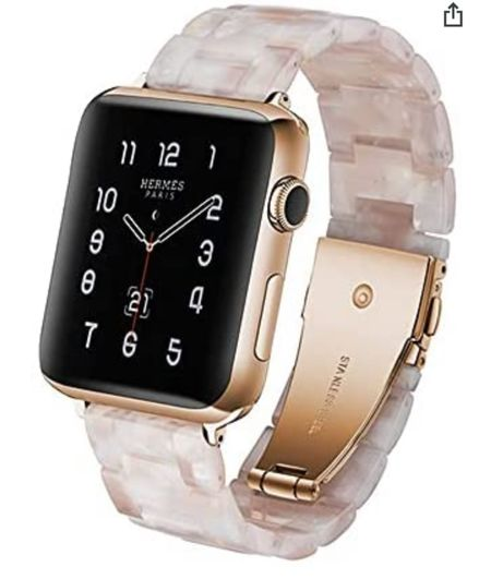"""Apple Watch band from Amazon! Great quality Multiple colors . This is shade """"white"""" even though there is some pink notes!   #LTKunder50 #LTKfit #LTKstyletip"""