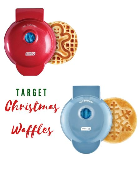 Mornings just got a whole lot cuter! 😍❤️💚🎄 These waffle makers are the perfect Christmas Morning addition! They make the cutest gifts - also SO festive! They are mini makers so perfect to store away too! Only $10.99!! Sold for both! 🎄☃️ http://liketk.it/30DFI #liketkit @liketoknow.it @liketoknow.it.home #LTKunder50 #LTKhome #StayHomeWithLTK