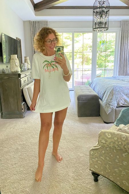 Perfect longer tee for a casual swim cover-up or with bikers!  Anything with a palm tree! http://liketk.it/3j6GU #liketkit @liketoknow.it #LTKfit #LTKstyletip #LTKswim