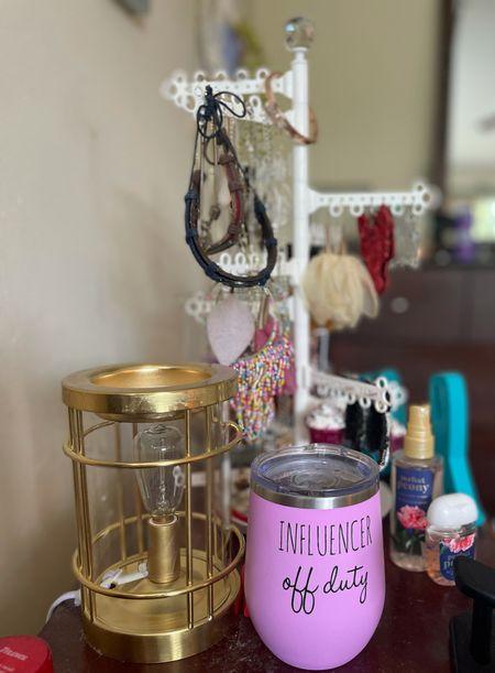 Home Decor Influencer off duty tumbler + Gold scent warmer + Jewelry holder  #LTKhome #LTKunder100