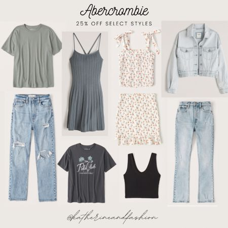 Abercrombie - 25% off select styles! My favorite jeans are included, plus matching sets, great basics like tees and graphic tees, tanks, and summer jackets    #LTKunder100 #LTKDay #LTKsalealert