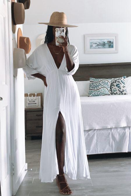 One of my favourite white maxi dresses restocked! Wearing size S Summer, bump friendly, maternity, resort wear, bridal,    #LTKSeasonal #LTKunder100 #LTKbump
