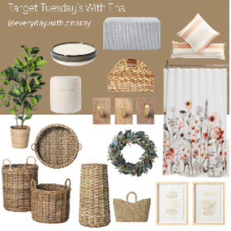 • TARGET TUESDAY'S WITH TINA •  I picked out some of my favorite things! Some I have, and some on my wish list! Some items are on sale (and in my cart 😆)  What item are your eyes drawn to? For me, it's the shower curtain!   Have a wonderful evening, sweet friens!    @liketoknow.it @liketoknow.it.home @liketoknow.it.family #LTKsalealert #LTKhome #LTKfamily Shop my daily looks by following me on the LIKEtoKNOW.it shopping app Follow me on the LIKEtoKNOW.it shopping app to get the product details for this look and others #liketkit http://liketk.it/3hHif