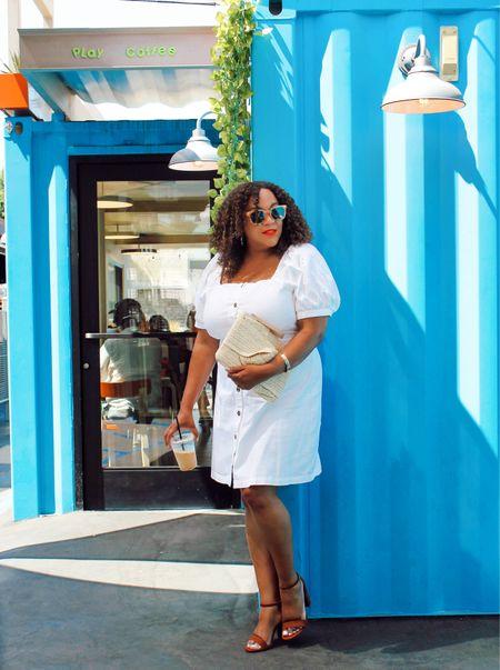 Love a white dress 🤍 in the summer☀️!! Everything here is from @targetstyle  Dress is from @whowhatwearxtarget in a large. It's linked in my LIKEtoKNOW.it Go to the link in Bio.    ——————————————————————————— 🇩🇴 Me encanta un vestido blanco 🤍 en el verano☀️ !! Todo aquí es de @targetstyle El vestido es de @whowhatwearxtarget en un tamaño grande. Está vinculado en mi LIKEtoKNOW.it Vaya al vínculo en Bio.  #LTKunder50 #LTKstyletip #LTKcurves