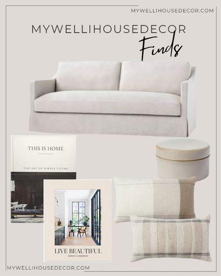 Living room finds Organic modern inspired  #target #targethome #livingroom #couch #sofa #books #canisters #pillows  #LTKsalealert #LTKSeasonal #LTKhome