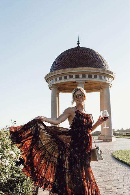 Prettiest under $170 fall wedding guest dress 🖤✨  #LTKSeasonal #LTKstyletip #LTKwedding