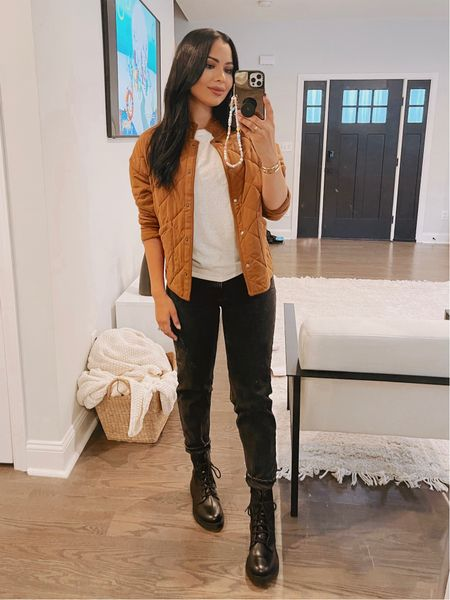 Walmart finds I've been loving! This jacket has been my go-to! I'm wearing size small . Boots are TTS only $20  #LTKunder50 #LTKbeauty #LTKstyletip