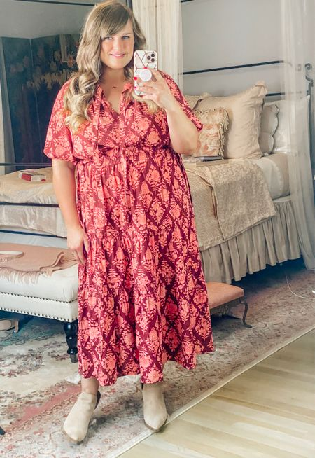 i can't get over this gorgeous peasant dress for fall!
