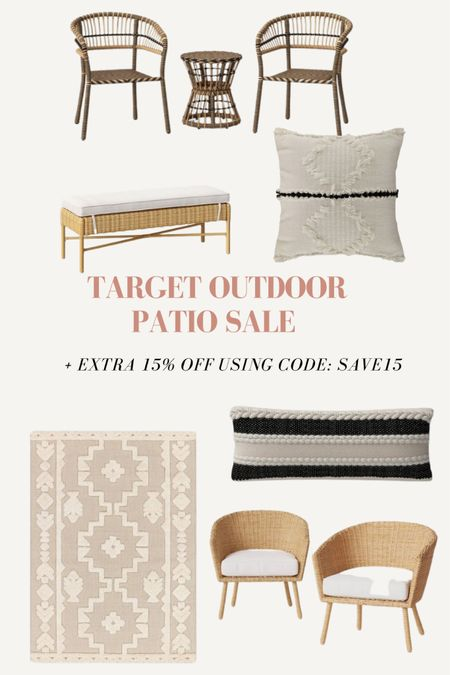 Target Patio sale + extra 15% off patio furniture using code: SAVE15 http://liketk.it/3gtZR #liketkit @liketoknow.it #LTKsalealert #LTKhome @liketoknow.it.home Shop your screenshot of this pic with the LIKEtoKNOW.it shopping app