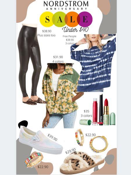 Nordstrom Anniversary Sale #nsale #ltkunder40 #ltkbeauty Fleece Sherpa, faux leather leggings, tie dye, vans, slippers, Mac lip kit  #LTKshoecrush #LTKsalealert #LTKunder50