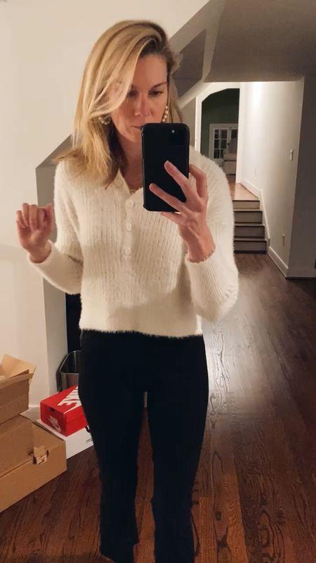 Nordstrom shopping finds - this one feels like barefoot dreams! Wearing XS in sweater. Jeans TTS. http://liketk.it/36LE5 #liketkit @liketoknow.it