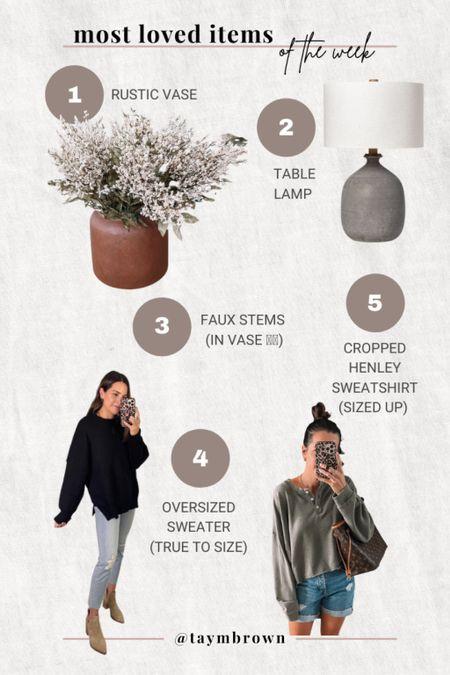 Top sellers, best sellers, Target home decor, Target finds, home decor, rustic vase, rustic lamp, fall decor, forever 21, oversized sweater  #LTKSeasonal #LTKhome #LTKunder50