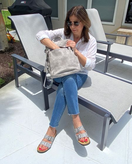 How cute is this backpack? I love it!   Lightweight. Tons of compartments, easy to clean, and it comes in so many fab colors!  I chose this retro gray color because it matches my @naotfootwear sandals.   #SummerLooks #SummerInStyle #SummerColors #seeourstyles #WomenswearFashion  #FashionBlogger #WhatIWore #AffordableStyle #WIWToday #StyleBlog #Over40Style #Over50Style #AgingInReverse #GrandmothersOfInstagram #summertravel #backpack #letsgo   http://liketk.it/3jzOj #liketkit @liketoknow.it   Download the LIKEtoKNOW.it shopping app to shop this pic via screenshot