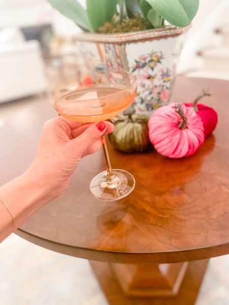 """Cheers to a """"gourd""""-geous weekend 🥂 and cheers to snagging these cute coupes during the last day of the Estelle birthday sale. Stock up for holiday entertaining and gifting.   #LTKGiftGuide #LTKSeasonal #LTKHoliday"""