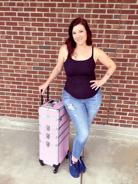 My professional makeup train, love it! Lots of compartments and roomy, including a deep compartment at the bottom for mannequins, etc.   #LTKbeauty #LTKtravel