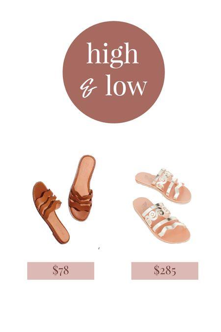 Summer slide sandals high and low  #LTKunder100 #LTKshoecrush #LTKSeasonal