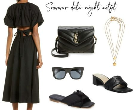 Weekend Outfit, Vacation Style, Summer Finds, Black Summer Dress, Summer Sandals, #LTKstyletip #LTKshoecrush    http://liketk.it/3i0LI @liketoknow.it #liketkit