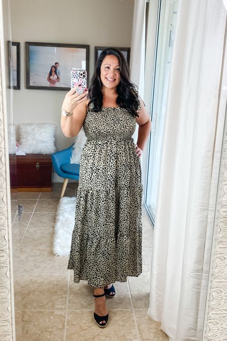 Leopard maxi dress. I'm wearing size L, my normal size. http://liketk.it/2U9GM #liketkit @liketoknow.it