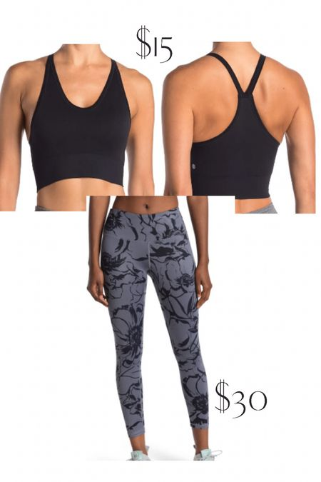 Zella sale at Nordstrom rack with sports bra and leggings in multiple colors.   #LTKsalealert #LTKfit #LTKunder50