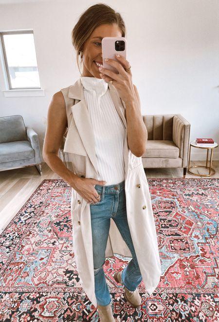 Love this sleeveless trench coat! Great fall staple or workwear piece! NATALIE15 for 15% off!   #LTKsalealert #LTKstyletip #LTKworkwear