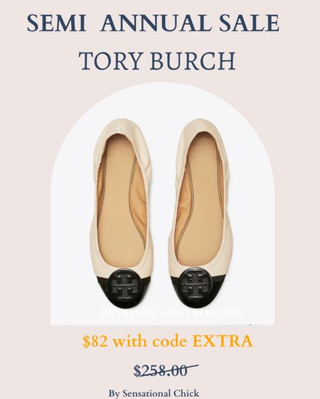 Tory Burch's semi annual sale is here! So many amazing deals! These flats are to die for and I've linked a few others as well! http://liketk.it/3i1Yo #liketkit @liketoknow.it #toryburch #LTKstyletip #LTKsalealert #LTKunder100