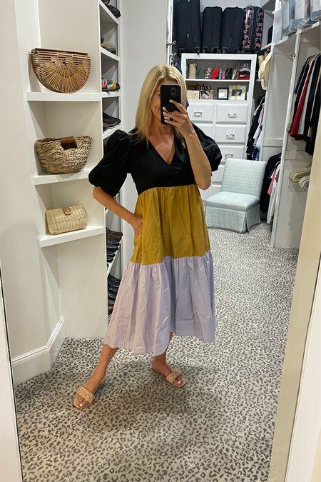 New colorblock AVARA dress! Wearing a size S.     #LTKstyletip #LTKshoecrush