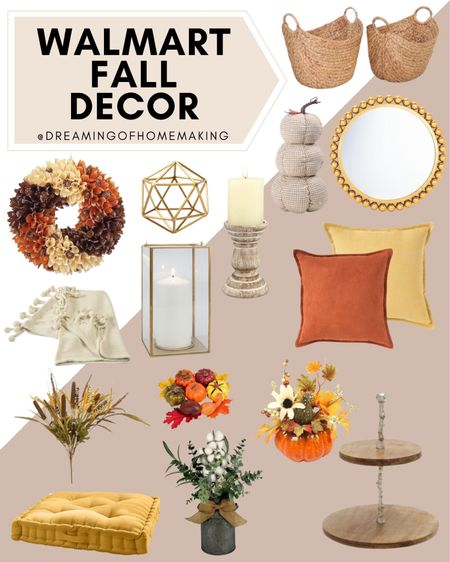 Walmart fall decor!  Dreaming of Homemaking | #DreamingofHomemaking   #LTKunder50 #LTKunder100 #LTKhome