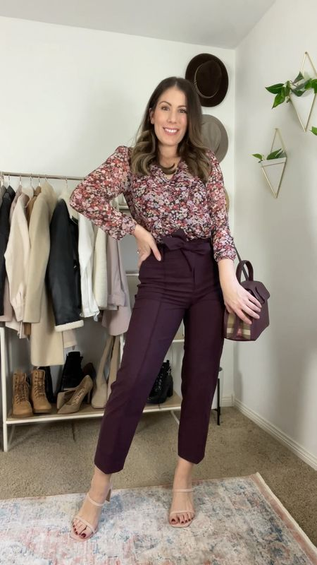 WEAR NOW & LATER  Loft items up to 40% off now.  Add a coat and swap the shoes for cooler weather.  These trousers with the tie belt are so flattering and comfortable and I absolutely love the color!!   #LTKworkwear #LTKsalealert #LTKstyletip