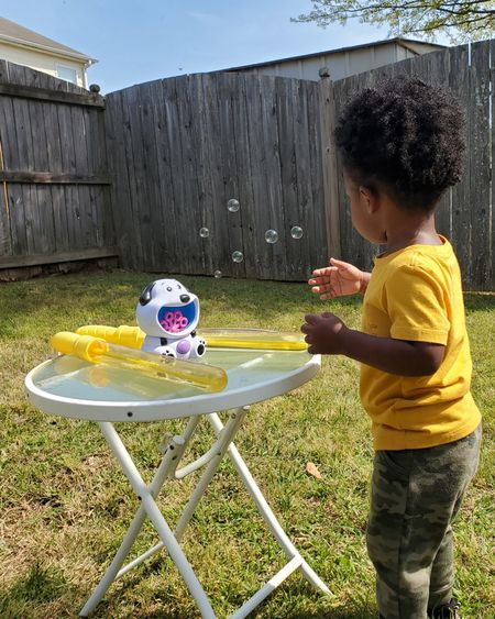 Easy backyard fun for the kids. Bubbles, bubbles, and more bubbles. Linked our favorite bubbles on the @liketoknow.it app. Follow me on the app to shop this post & some of favorite items. http://liketk.it/3cq82 #liketkit
