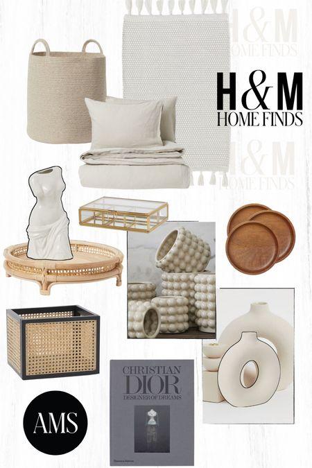 H&M Home Decor Finds!  - Neutral bedding + rug - Baskets + storage - Decor for vanity or shelves And more! ⭐️  #LTKstyletip #LTKunder100 #LTKhome
