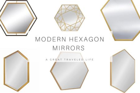 Hexagon Mirrors are perfect for any bathroom renovations. Hexagon Mirrors with gold or brass frames will look great with almost any home decor style.   http://liketk.it/38D4w #liketkit @liketoknow.it #LTKhome #LTKunder50 #LTKstyletip @liketoknow.it.brasil @liketoknow.it.family @liketoknow.it.europe @liketoknow.it.home Shop your screenshot of this pic with the LIKEtoKNOW.it shopping app
