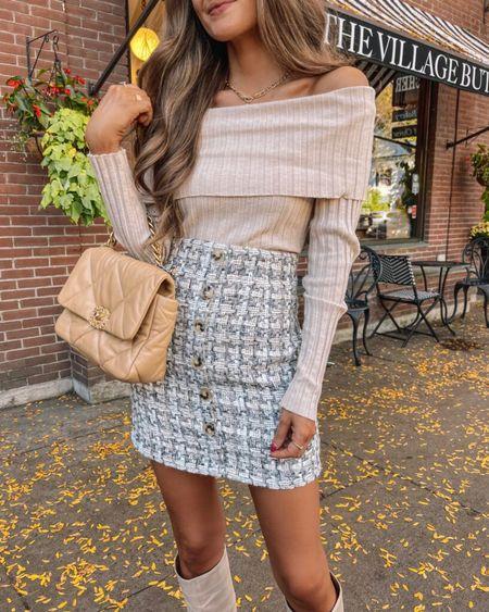 The Charlotte Off The Shoulder Ribbed Bodysuit Beige  XS, TTS, cmcoving, Caitlin Covington, Pink Lily Collection, fall fashion, use code CAITLIN20 for 20% off!   #LTKunder100 #LTKSeasonal #LTKsalealert