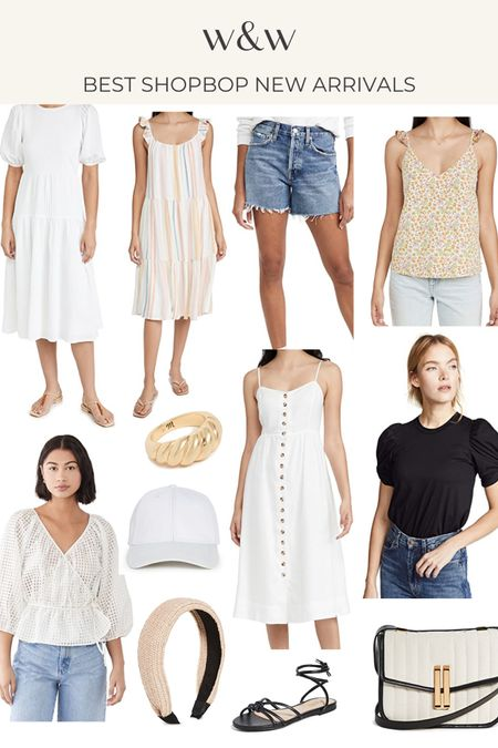 Best Shopbop new arrivals for summer! Summer dresses, denim shorts, summer tops and cute accessories @liketoknow.it http://liketk.it/3htBc #liketkit