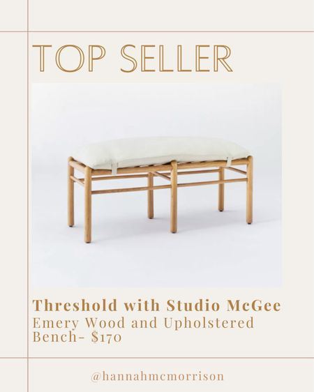 Threshold with Studio McGee Emery Wood and Upholstered Bench  http://liketk.it/3fgcu #liketkit #targethome #studiomcgee #LTKhome @liketoknow.it