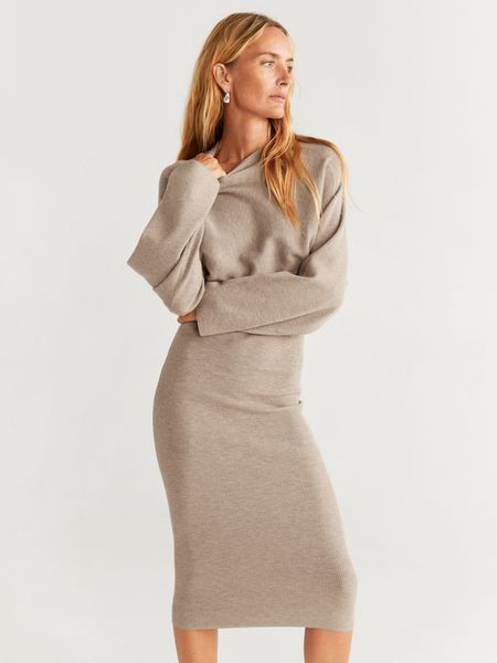 Don't you just love this dress?😍 And it's so wearable:-) I generally love dresses because you have a whole outfit in one peace😄 Ok, add shoes and that's it! Oh yes, they have it in black, too. - fall outfit, long dress, nude dress, pencil dress, work wardrobe, teacher outfit, chic, mango, sweater dress  http://liketk.it/2Fd29 #liketkit @liketoknow.it #LTKeurope #LTKstyletip #LTKunder100 #LTKworkwear @liketoknow.it.europe