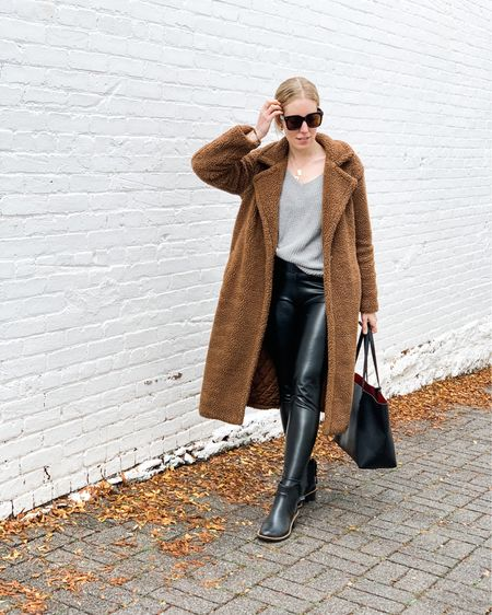 It's beary cold outside already and I'm ready to hibernate until spring. 🐻 🥶 😫 Anyone else??  Ps I just gave into leggings and I'm not mad at it if it looks like this. Want to step up your at home style or #momiform then head to my thenewyorkstylist.com to see how I can help with your wardrobe virtually!  You can also instantly shop all of my looks by following me at LIZTEICH on the @liketoknow.it   app. http://liketk.it/2ZYtE #liketkit #LTKunder100 #LTKunder50 #LTKstyletip